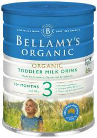 Bellamy's Organic Toddler Milk Drink  3- 900g