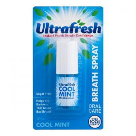 Xịt Thơm Miệng - Ultrafresh Cool Mint Breath Spray 12ml